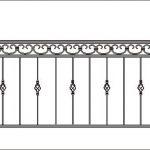 Балкон ограждения эскиз 11