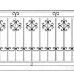 Балкон ограждения эскиз 16