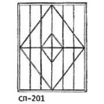 Сварные решетки эскиз 14———— от 550 руб. м2