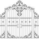 Ворота калитки эскиз 10