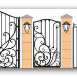 Ворота калитки эскиз 15