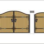 Ворота калитки эскиз 16