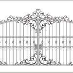Ворота калитки эскиз 18