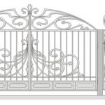 Ворота калитки эскиз 24