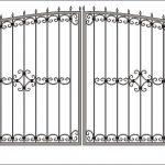 Ворота калитки эскиз 31