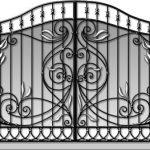 Ворота калитки эскиз 37