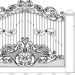 Ворота калитки эскиз 38