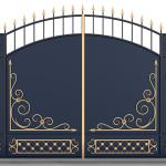 Ворота калитки эскиз 40