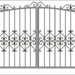 Ворота калитки эскиз 44