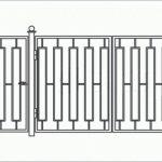 Ворота калитки эскиз 47