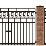 Ворота калитки эскиз 50