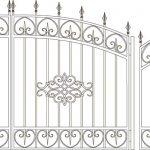 Ворота калитки эскиз 51