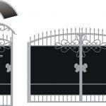 Ворота калитки эскиз 52
