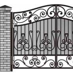 Ворота калитки эскиз 54