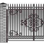 Ворота калитки эскиз 55