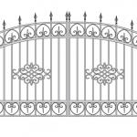 Ворота калитки эскиз 58