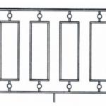 Балкон ограждения эскиз 12