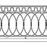 Балкон ограждения эскиз 17