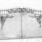 Ворота калитки эскиз 11