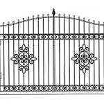 Ворота калитки эскиз 12