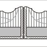 Ворота калитки эскиз 19