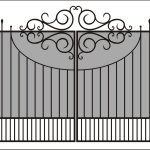 Ворота калитки эскиз 20