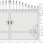 Ворота калитки эскиз 21
