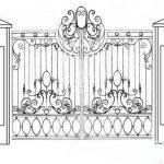 Ворота калитки эскиз 22