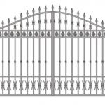 Ворота калитки эскиз 23