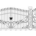 Ворота калитки эскиз 25