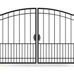 Ворота калитки эскиз 26