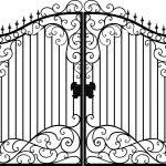Ворота калитки эскиз 27