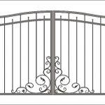 Ворота калитки эскиз 32