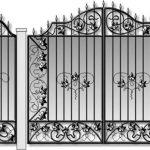 Ворота калитки эскиз 33