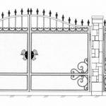 Ворота калитки эскиз 34