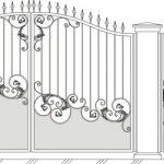 Ворота калитки эскиз 35