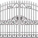 Ворота калитки эскиз 36