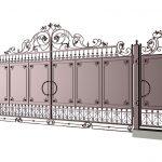 Ворота калитки эскиз 41