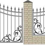 Ворота калитки эскиз 42