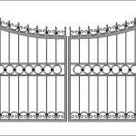 Ворота калитки эскиз 45