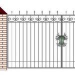 Ворота калитки эскиз 49