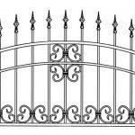 Забор эскиз 23