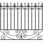 Забор эскиз 52